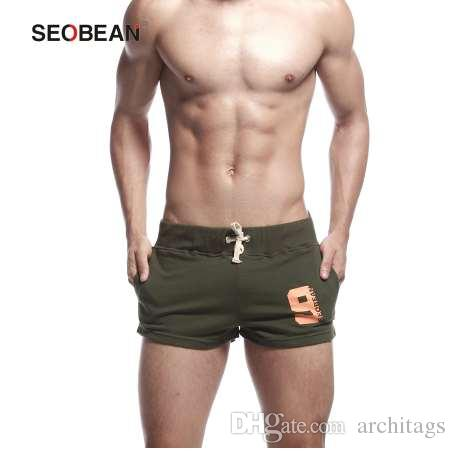 ddb335eba63 2019 Mens Cotton Sweatpants Board Beach Swim Shorts Male Elastic Band  Jogger Boxers Shorts Men Swim Trunks Bottoms Swimwear From Architags