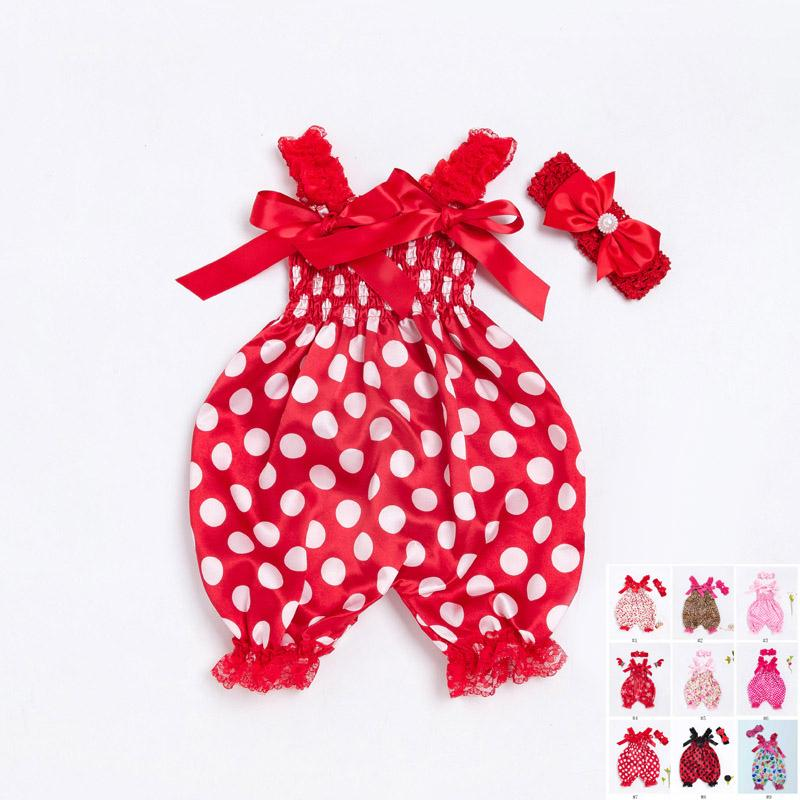 924b4b8d75df 2019 Newborn Kids Baby Girls Clothes Floral Jumpsuit Romper Playsuit  Headband Outfits Baby Bodysuit With Headband 0 24M Many Styles From  Shunhuico