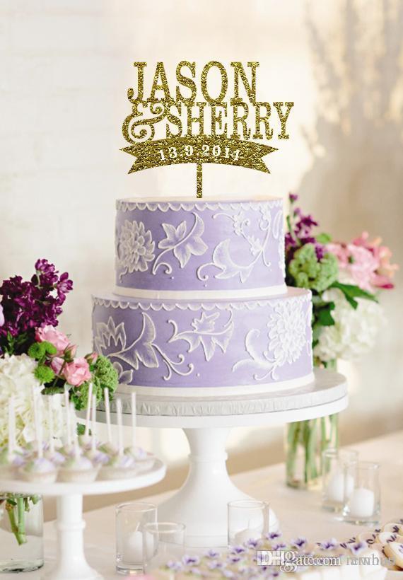Grosshandel Grosshandel Personalisierte Cake Topper