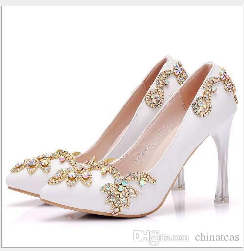 High Quality Bridal Wedding Profiled With Pointed Rhinestone Shoes With High  Heel Platform Shoes Loafers For Men Red Shoes From Chinateas b54b2e0cc602