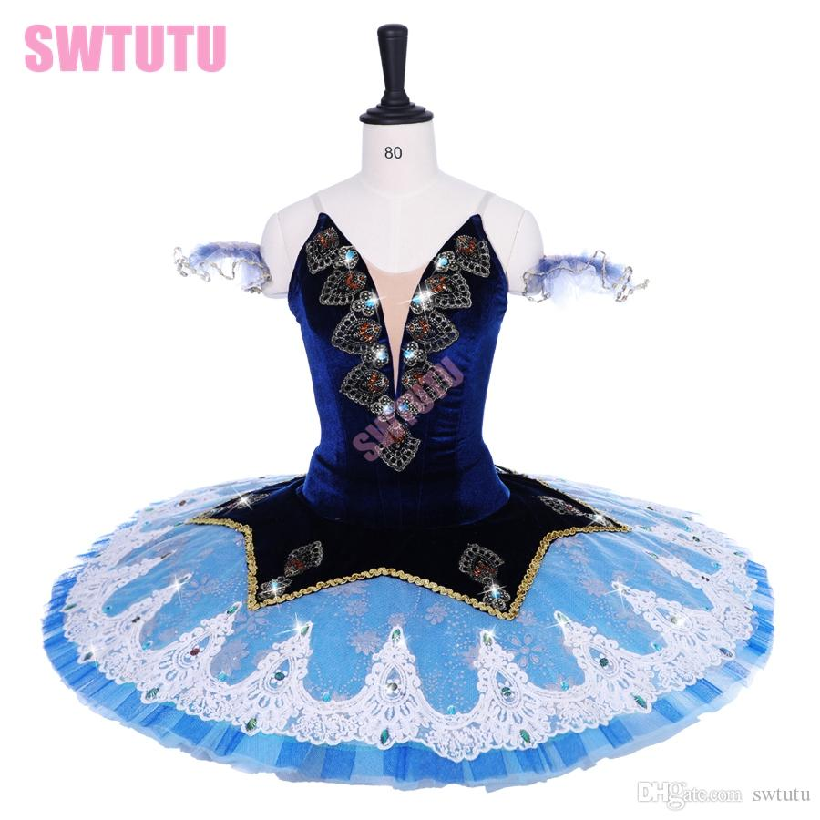 Acquista Ragazze Blu Uccello Prestazioni Concorrenza Professionale Tutu  Donne Su Misura Ballerina Balletto Costume Tutu Pancake Vestito BT9191 A   226.14 Dal ... daae78b6bf4