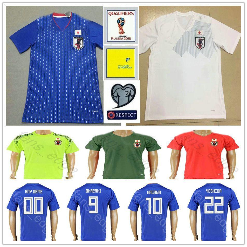 515791a9b 2019 2018 World Cup Japan Soccer Jersey 9 OKAZAKI 10 KAGAWA 17 HASEBE 6  MORISHIGE 8 KIYOTAKE 22 TOSHIDA Blank Home Custom Football Shirt From  Fans_edge, ...
