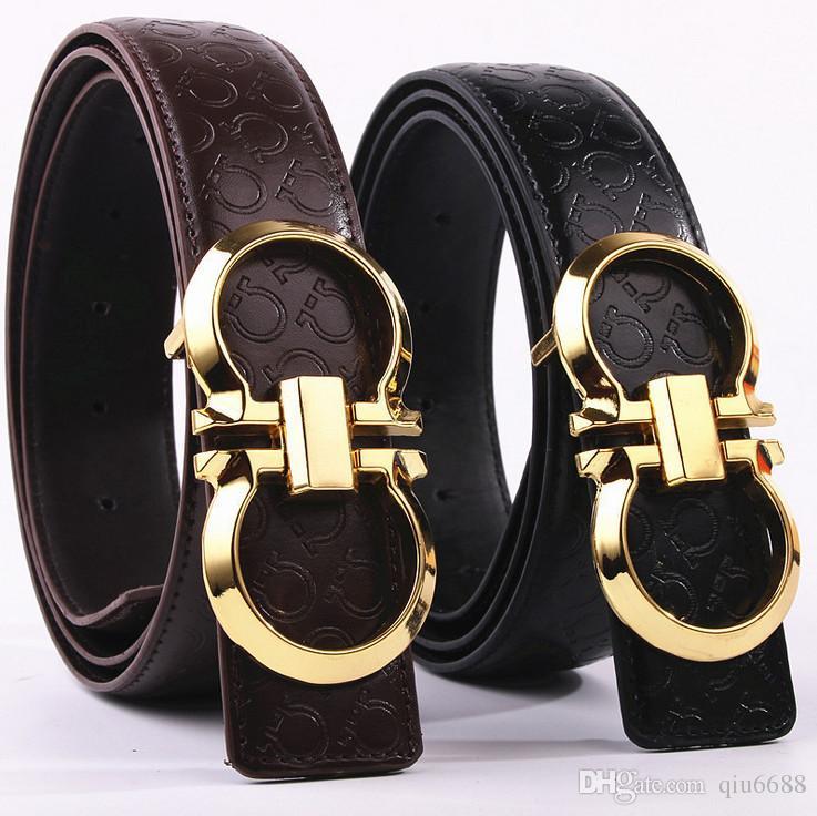 Nuevo Cinturón De Hombre De Moda Hombre Liso Hebilla De Cinturón De Lujo  Faux Cinturones De Cuero Para Hombres Envío Gratis A  6.99 Del Qiu6688  6dbdf2738028