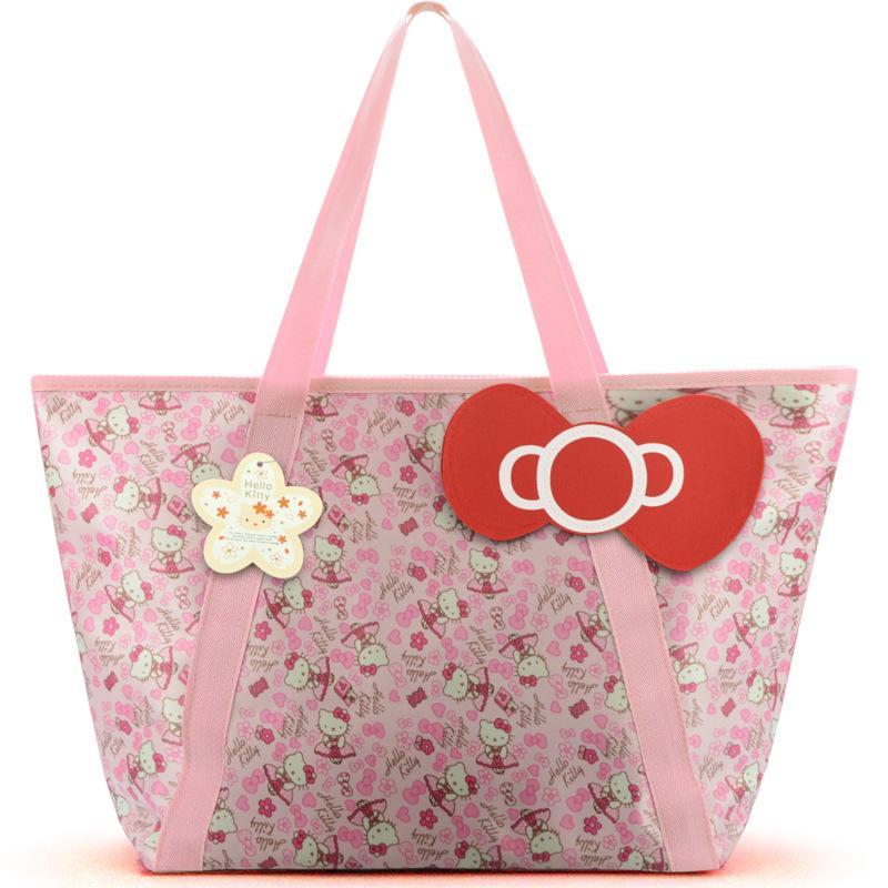 Oxford Cloth Waterproof Travel Mummy Bag Women Girls Cartoon Bowknot Shoulder  Tote Duffle Bags Cute Hello Kitty Shopping Handbag Big Handbags Cute  Handbags ... 4c85619138fe5