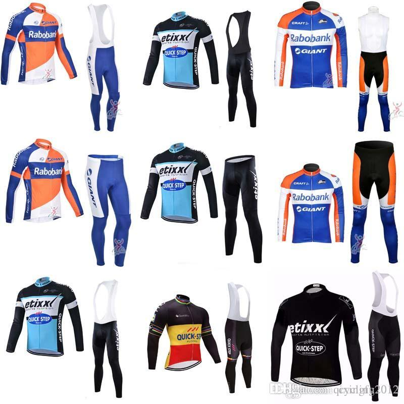 2018 QUICK STEP RABOBANK Long Sleeve Cycling Jersey Men Ropa Ciclismo  Hombre Bike Maillot Ciclismo Mtb Bicycle Clothing Bib Pants Sets F2123  QUICK STEP ... fdad6f118
