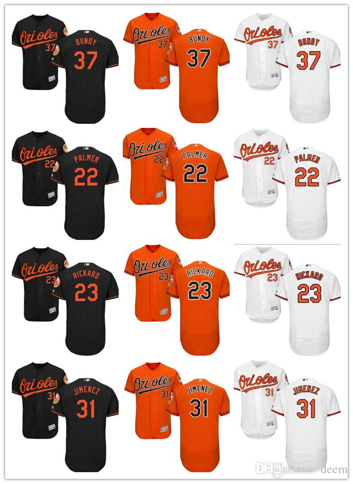 Custom Men Women Youth Baltimore Orioles Jersey  37 Dylan Bundy 31 Ubaldo  Jimenez 23 Joey Rickard 22 Jim Palmer Baseball Jerseys Orioles Jerse  Baltimore ... 8e39e8120