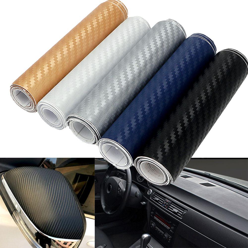 5 Colors 10cm x 127cm 3D Tint Vinyl Film Car Sticker DIY Carbon Fiber Decal  Wrap Roll Adhesive Car Styling for Interior Exterior