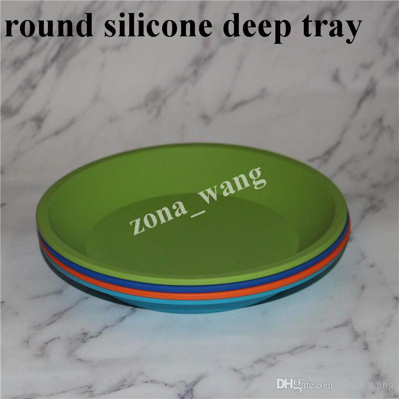 Venda Por Atacado novo prato redondo e forma quadrada recipiente de prato de silicone de grau alimentício, recipiente de prato profundo de silicone para cera de frutas de alimentos