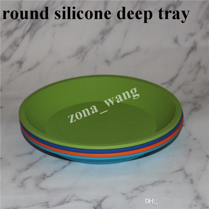 vendita all'ingrosso Nuovo piatto tondo e forma quadrata contenitore del piatto del silicone del commestibile, contenitore profondo del piatto del silicone la cera della frutta dell'alimento