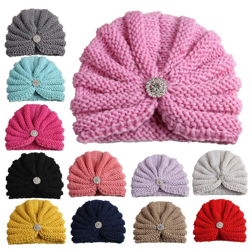 2019 2018 New Fashion Crochet Kids Hat Elastic Knitted Wool With