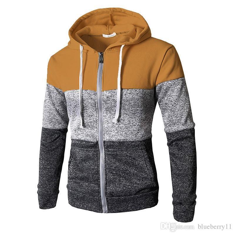 6c8a2f5d0a65 Großhandel Neue Herbst Drei Farbe Zipper Hoodies Sweatshirt Männer Dünne  Beiläufige Hoodies Langarm Mit Kapuze Sweatshirts M 3xl Von Yinbo2789, ...