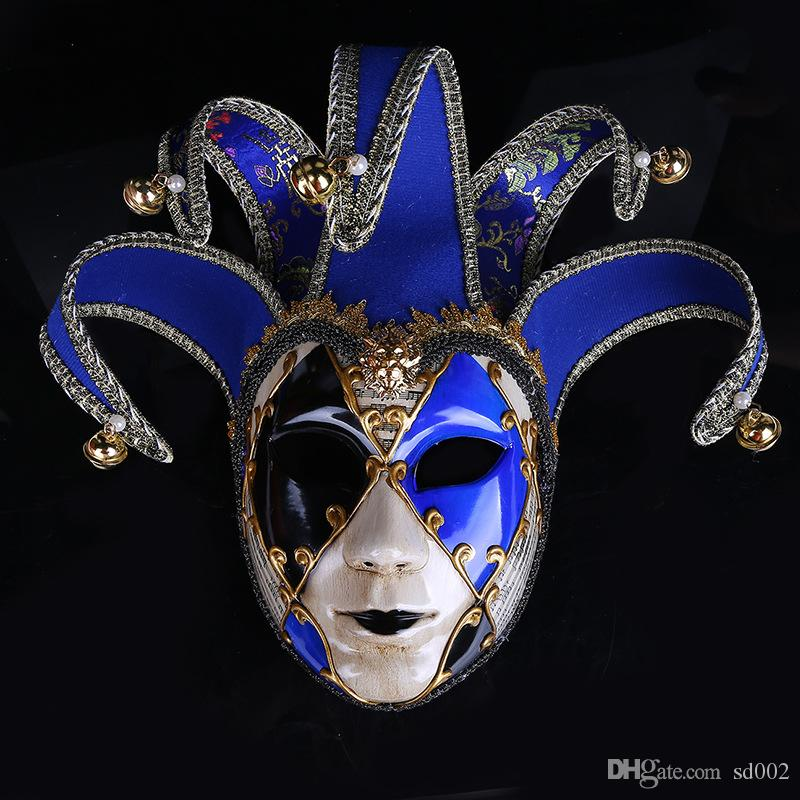 Coloured Drawing Halloween Ball Mask Party Supplies Venice Carnival