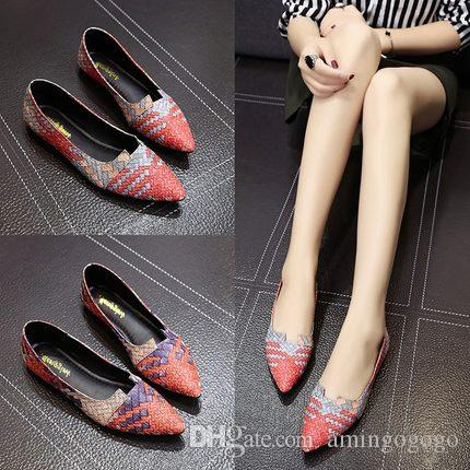 f2e1b935c6a1cf Female Flat Shoes 2018 New Summer Korean Version Shallow Mouth Chic ...