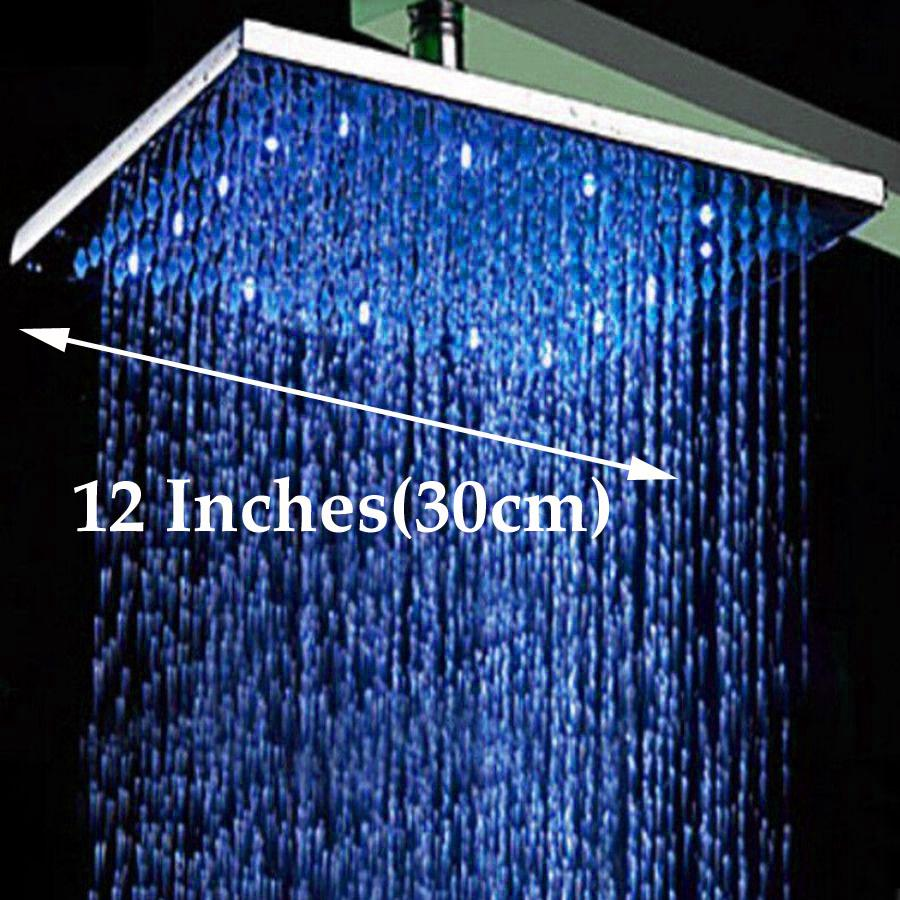 2019 Wholesale And Retail Led Color Changing 12 Square Rain Shower