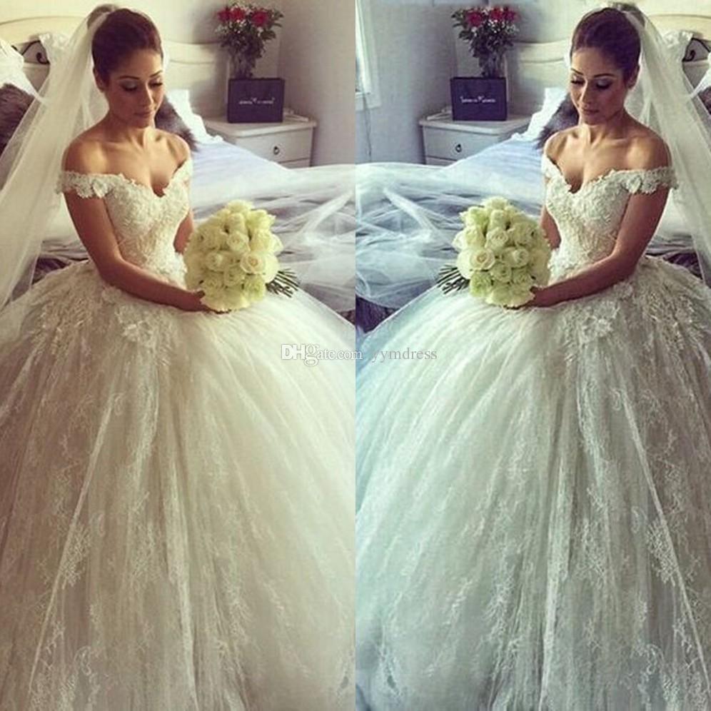 Discount Beach Wedding Dresses 2018 Chic Boho Bohemian Tulle Lace