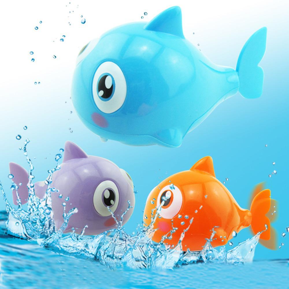 Cute Cartoon Funny Baby Bath Toy Swimming Animal Fish Clockwork Wind ...
