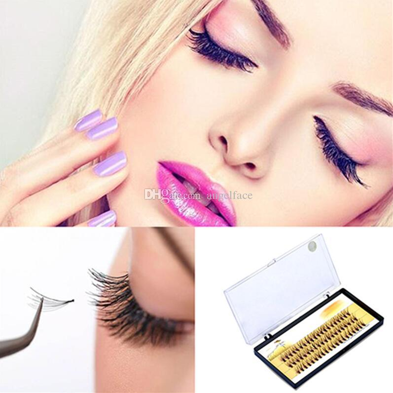 3D False Eyelashes 6-14mm Individual Lashes Feather Plastic Cotton Stalk Single Cluster Planting Russian Premade Volum Eyelashes Extensions