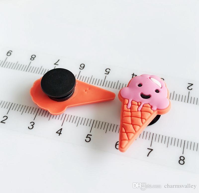 decoración lindo del helado pulsera encantos accesorios de zapato plano de PVC de bricolaje Gadgets Novedad niños zapata de accesorios regalos