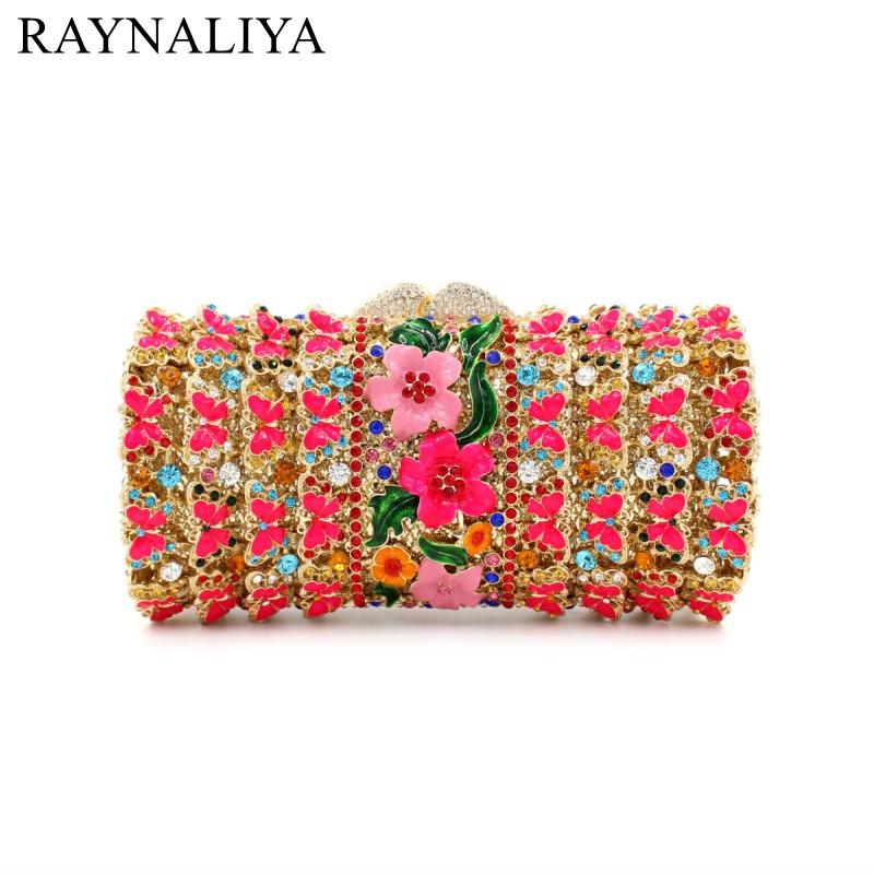 cab7be57d1 Beautiful Red Crystal Evening Bags Flowers Rhinestone Crystal Clutch Bag  For Women Fashionable Clutches Purse SMYZH E0310 Clutch Purses White  Handbags From ...
