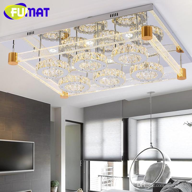 Modern brief crystal lamp bubble column ceiling light rectangle living room lamps three-color Mobile phone App control light