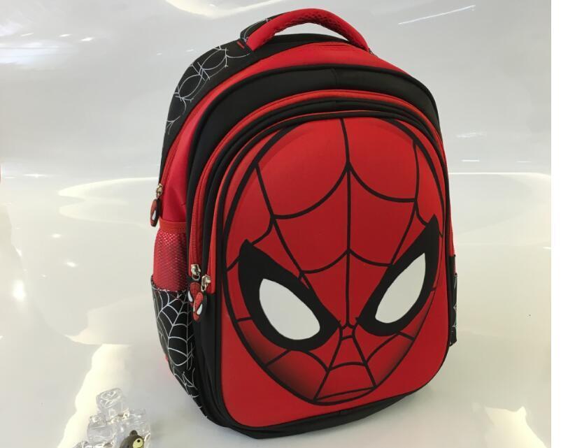 d210b018ff Hot Selling New Children S Schoolbag Spider Man Backpack Cartoon 3D  Elementary School Cartoon Double Shoulder Bag Kids Backpacks School Backpack  S From ...