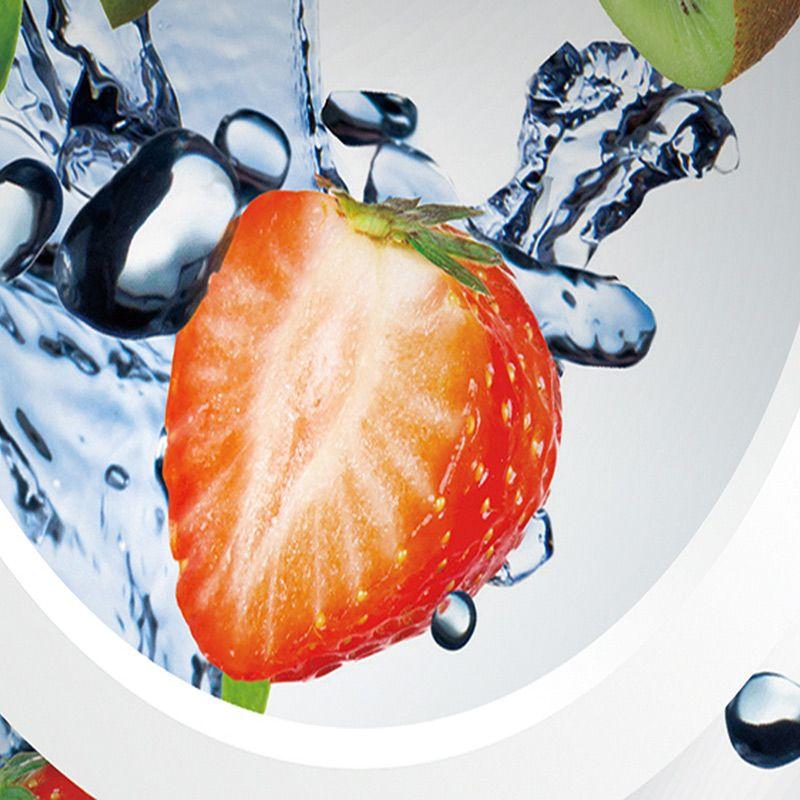 Custom Mural Wallpaper Modern Abstract Art 3D Stereoscopic White Circle Fruits Large Wall Painting Restaurant Kitchen Wallpaper