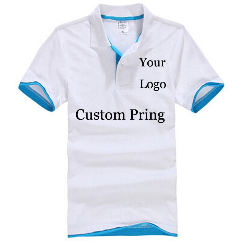 Custom Poloshirt Customized Printing Logo Service Screen Embroidery Print Shirts  Company Hotel Staff Unisex Short Sleeves Cotton Personalized T Shirt T ... daa648f50e65