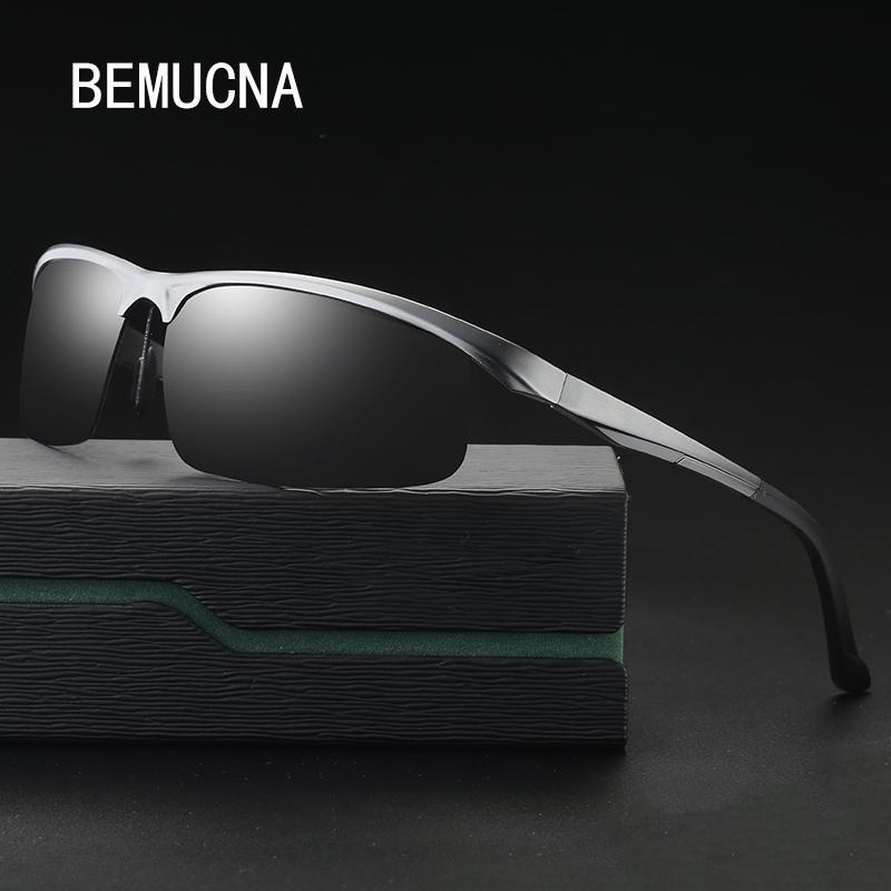 f8677e901 Compre BEMUCNA 2018 O Novo Clássico Dos Homens Óculos Polarizados Moda  Óculos De Sol Óculos De Condução De Alumínio Magnésio 8626 De Geworth, ...