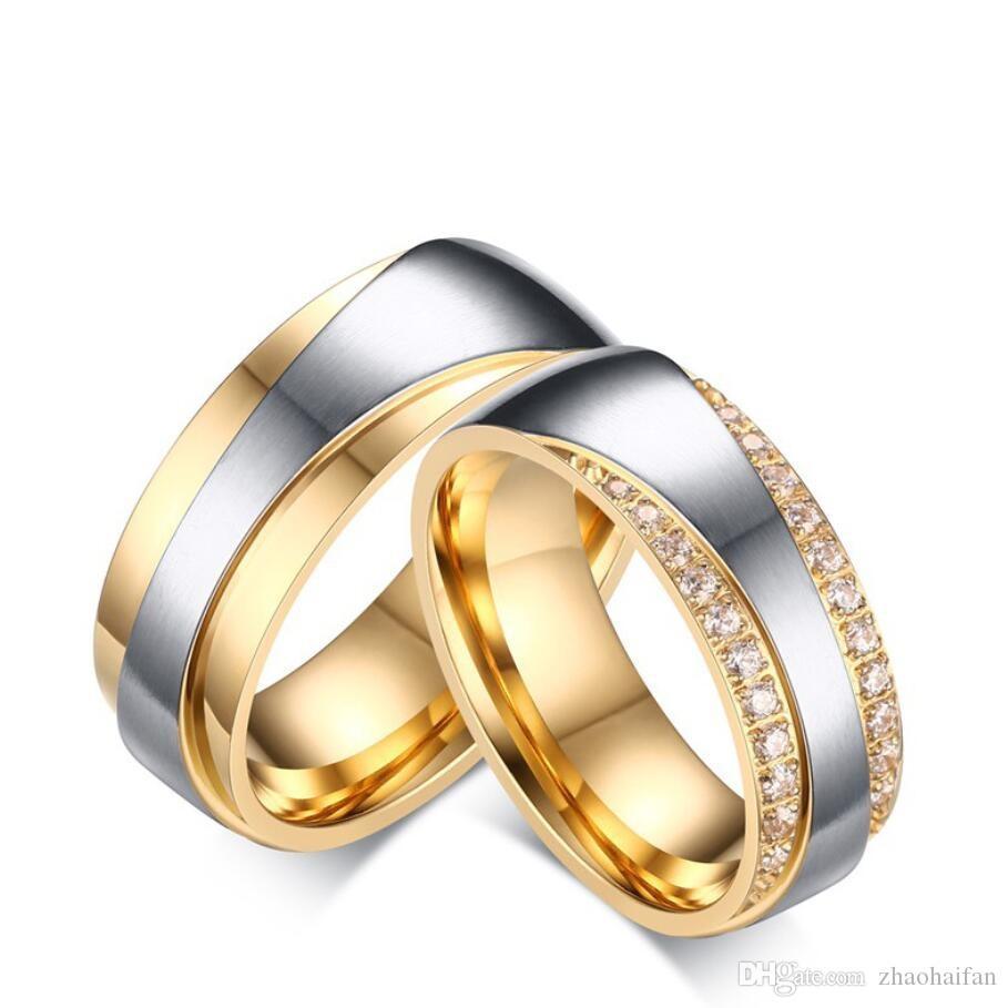 Grosshandel Zhf Schmuck Hochzeit Ringe Fur Frauen Manner Versprechen