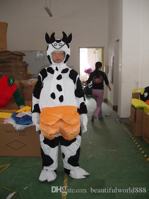 2018 High Quality Cow Christmas Mascot Costume Fancy Dress Adult Size Cartoon Dress Baby Bull Cow Mascot Halloween Christmas Party Dress Womens Costumes ... & 2018 High Quality Cow Christmas Mascot Costume Fancy Dress Adult ...