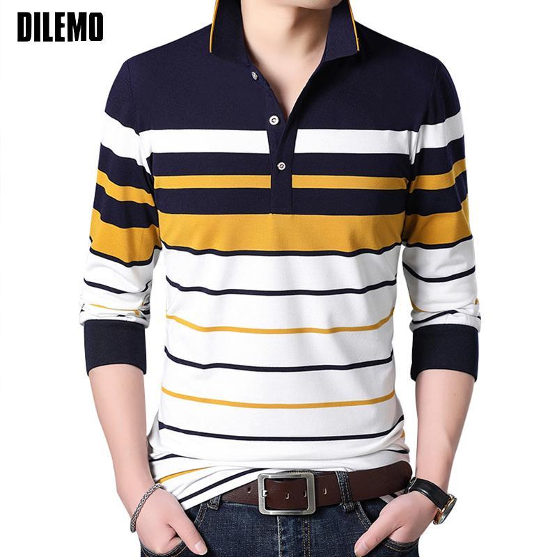 online store 330e9 6a84f 2018 Neue Mode Marken Shirt Männer Gestreifte Shirts Slim Fit Männer Hemd  Langarm Baumwolle Freizeitkleidung