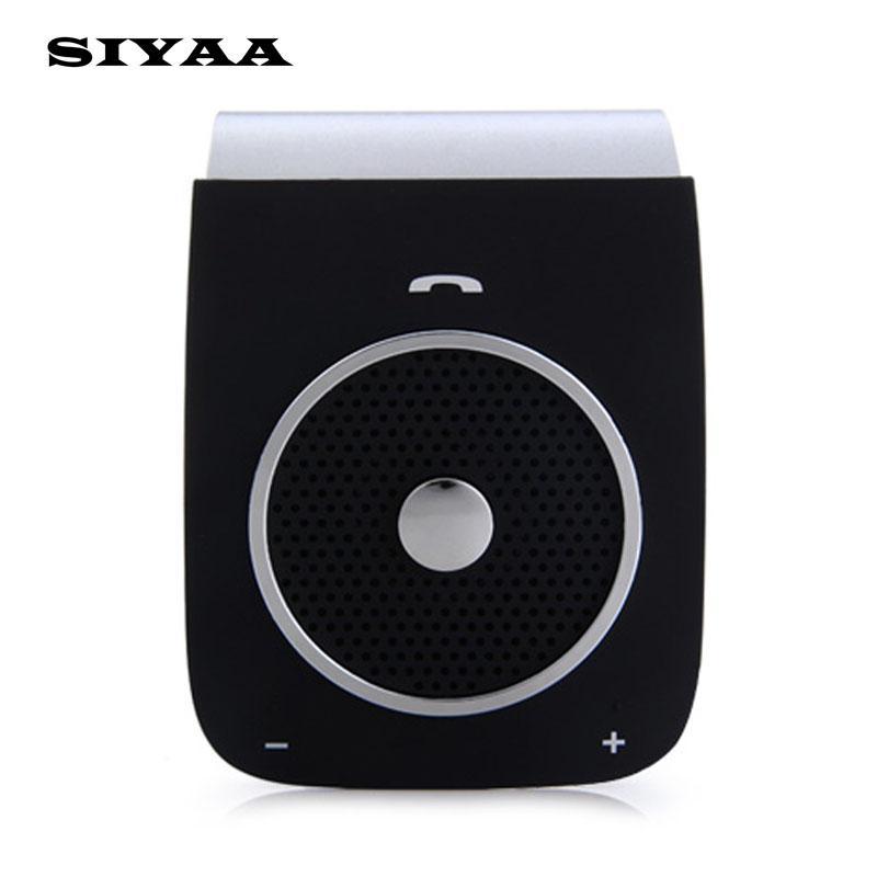 SIYAA BT18 Bluetooth Car Kit Handsfree Bluetooth V4 0 Sunvisor Wireless  Speaker Support Voice Dialing Hifi Connect Phones