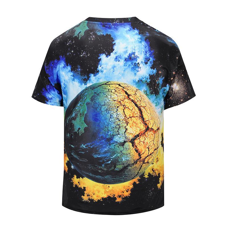 NC Men T-Shirt 2018 Summer New fashion Wolf totem 3D printing T-shirt street fashion men's clothing Boy tees