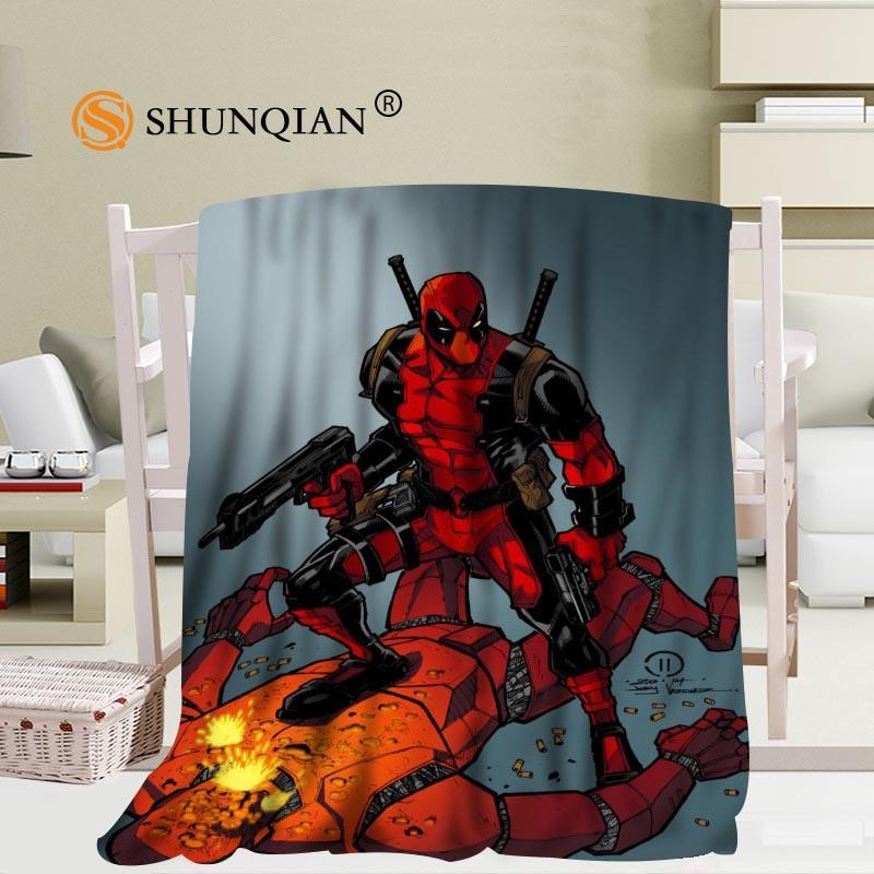 Custom Deadpool Travel Blanket Home Tv Casual Relax For Family Soft