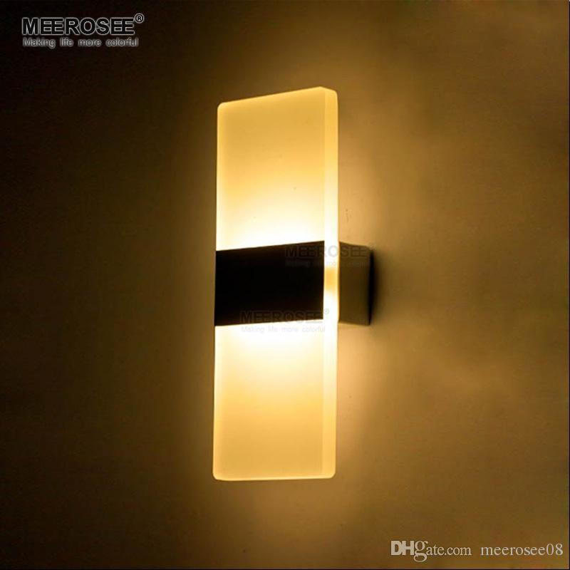 Modern Led Wall Lamp Bathroom Led Wall Sconces Aluminum Wall ...