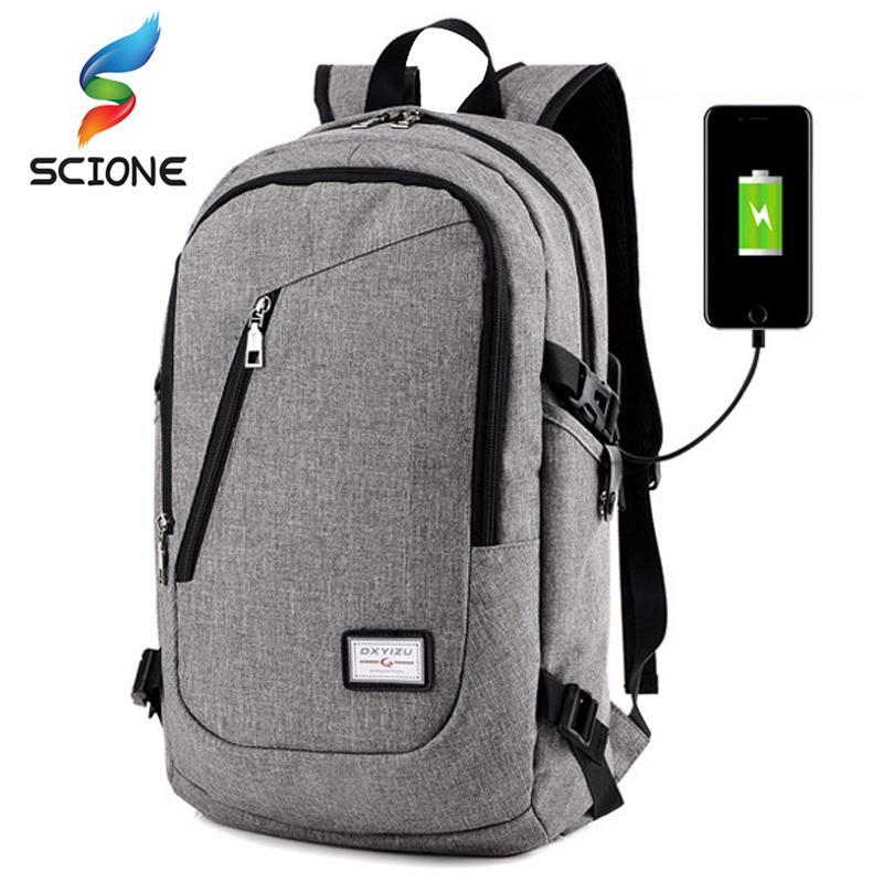 397a042ff5ab6 Compre Hot Multifunción De Carga USB Hombres 15 Pulgadas Laptop Gym Mochilas  Para Adolescentes Moda Hombre Viaje Deportes Al Aire Libre Mochila De  Fitness A ...