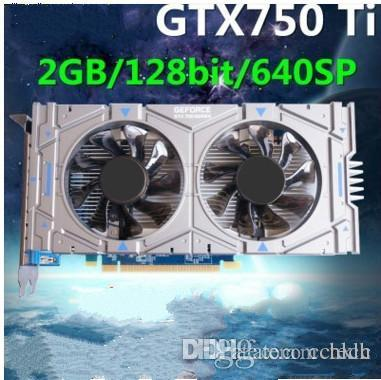Geforce chip GTX750Ti 1GB/2GB DDR5 128Bit Game Video Graphic Card  1020/5400MHZ 640SP PCI Express 3 0 16X For accelerate all popular 3D games