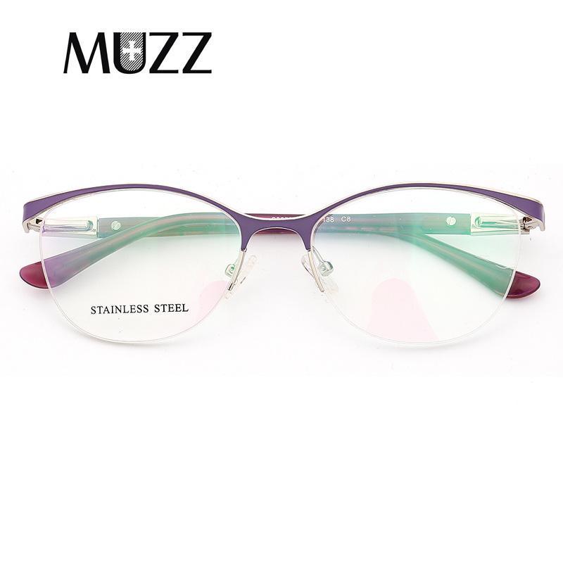 b37dd388190 MUZZ Cat Eye Style Women Optical Glasses Frames Metal Glasses Frame ...
