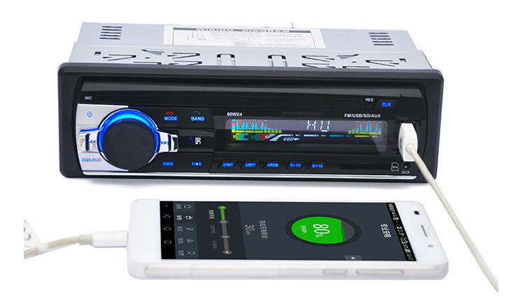 Radio-MP3-Audioplayer des Radio-NC 12V Auto-Stereolithographie-Unterstützungs-Bluetooth mit USB / SD MMC Hafen-Auto-Elektronik In-Strich 1 DIN