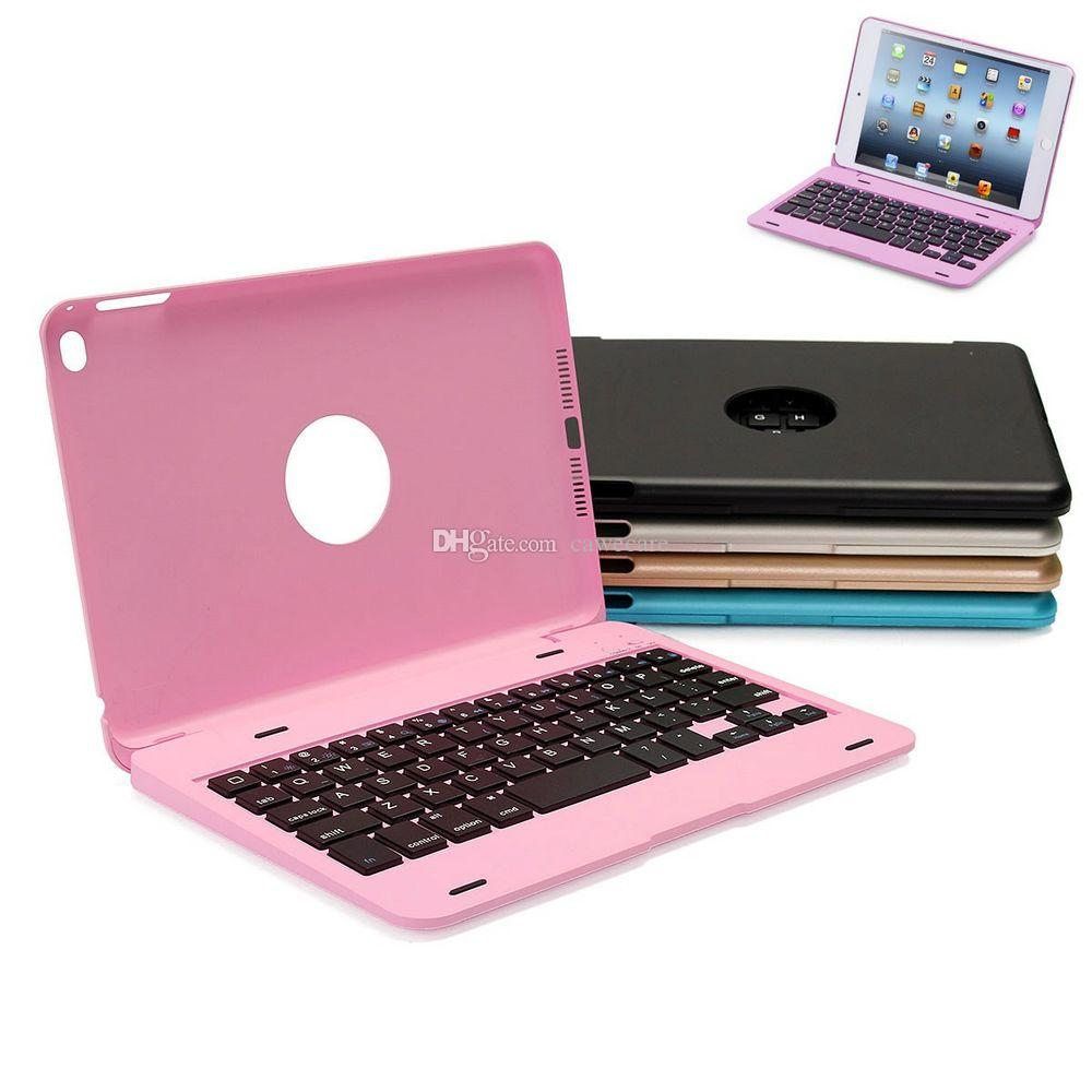 Pad Mini 4 Case Wireless Bluetooth 3.0 Keyboard Case Cover 6 Colors with Battery C082 Tablet PC Stands Mount ABS