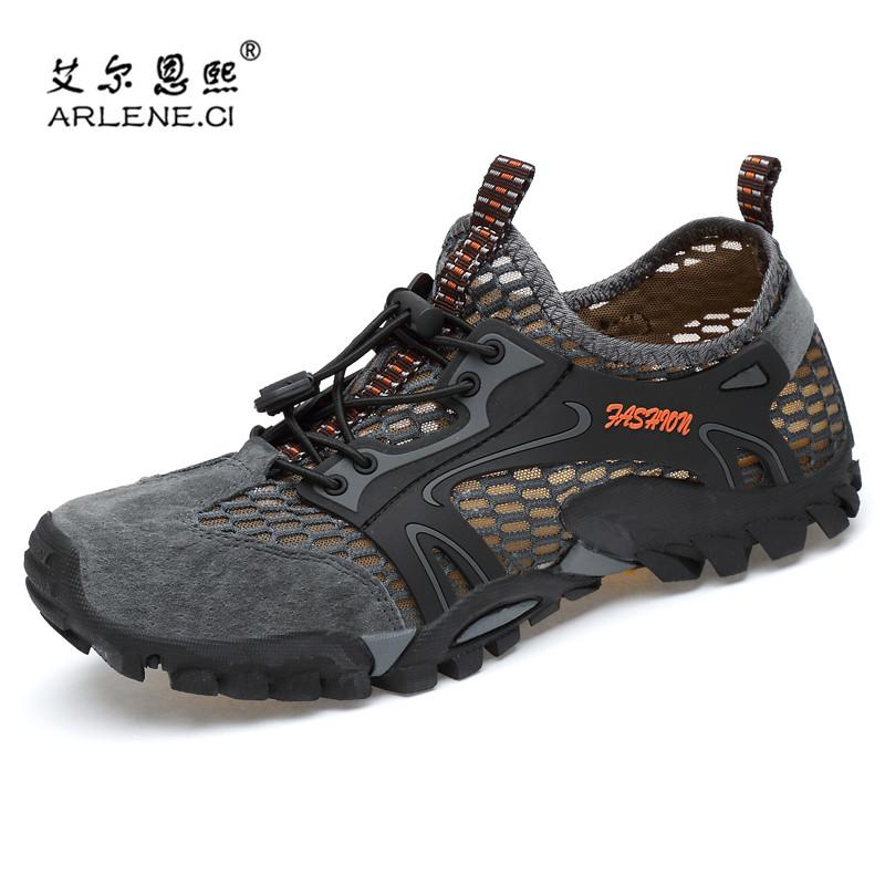 171f329a46a9 ... 2018 summer trekking water shoes men hiking shoes breathable outdoor ...