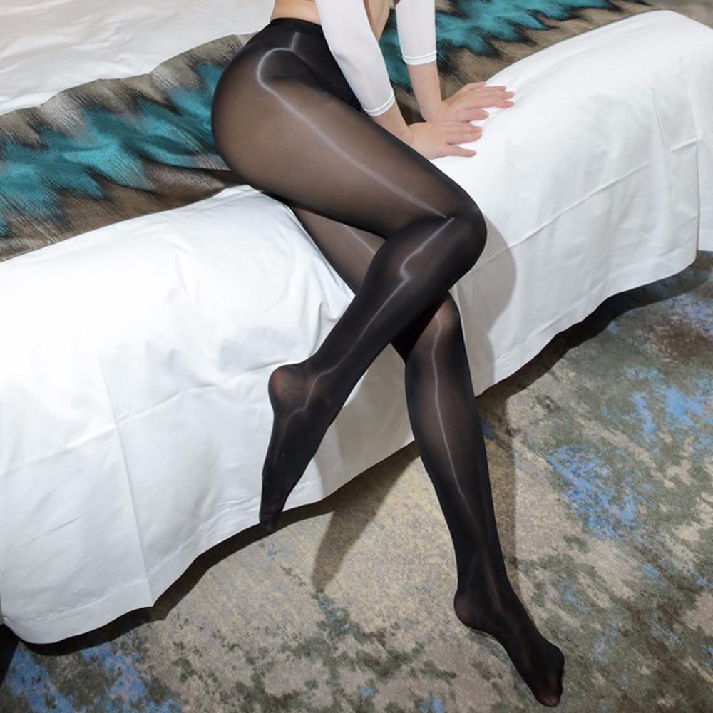 32b9d4266106d 2019 Hot Sexy Gloss Oil Shiny Pantyhose Fetish Glitter Tights Women Sheer  Medias Mujer Collant Fantaisie Femme Strumpfhose From Bida Amy, $37.75 |  DHgate.