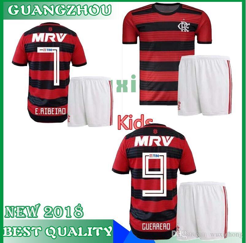 New 2018 Flamengo Soccer Jersey Set 18 19 Flamengo Home Camisa De ... 77df67a3b
