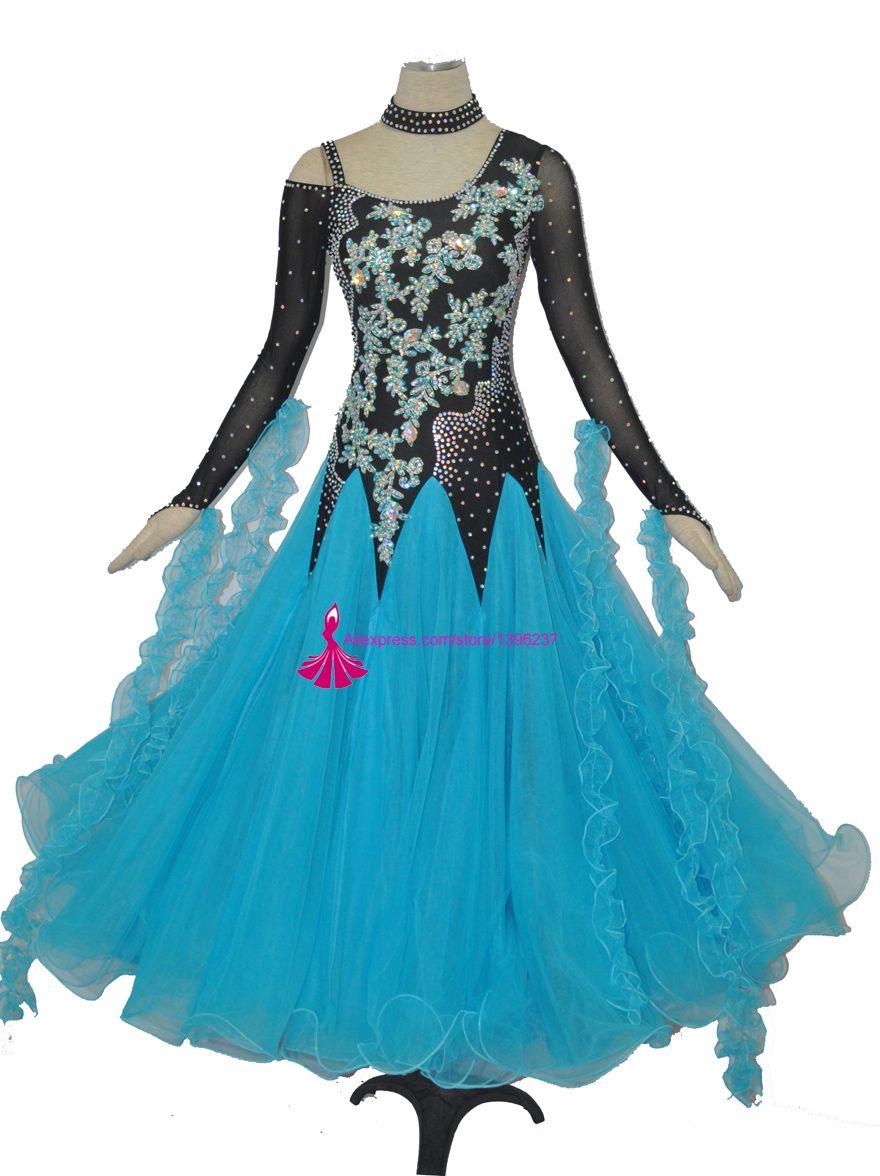 a145c7b10 2019 Standard Ballroom Dancing Dress Women 2018 High Quality Sky Bule  Flamenco Waltz Skirt Lady'S Ballroom Competition Dance Dresses From  Cocktailfashion, ...