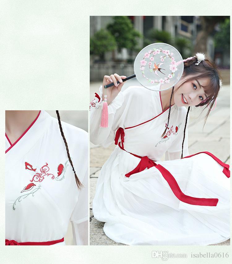 Cinese tradizionale della dinastia Tang antico costume donne Hanfu vestito cinese fata abiti costume da ballo Abbigliamento Hanfu