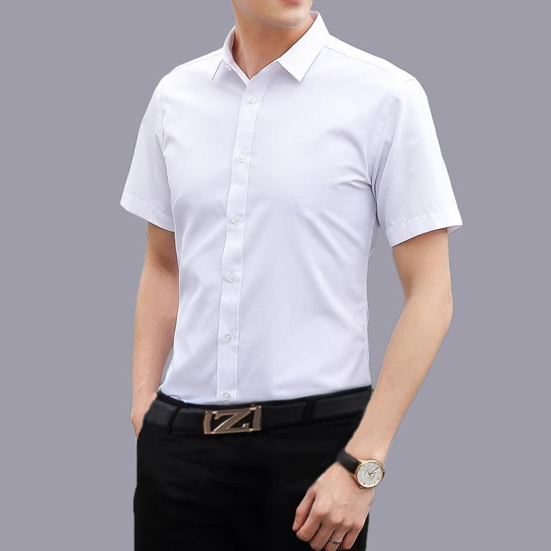 be93eb1cd9 2019 Plus Size 4XL 5XL Summer Men Casual Shirt Fashion Short Sleeve Business  Slim Fit Shirt Men Formal Male Shirts Camisa Masculina From Genguo