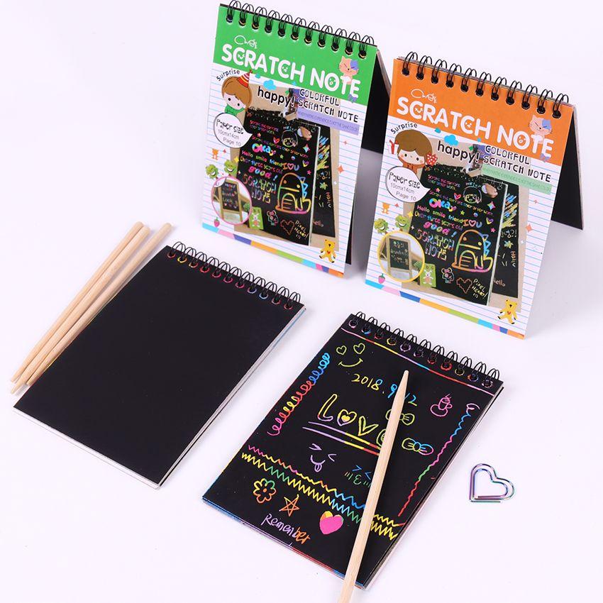 Großhandel 1 Stück Diy Scratch Notiz Buch Zeichnung Sketch Kinder ...