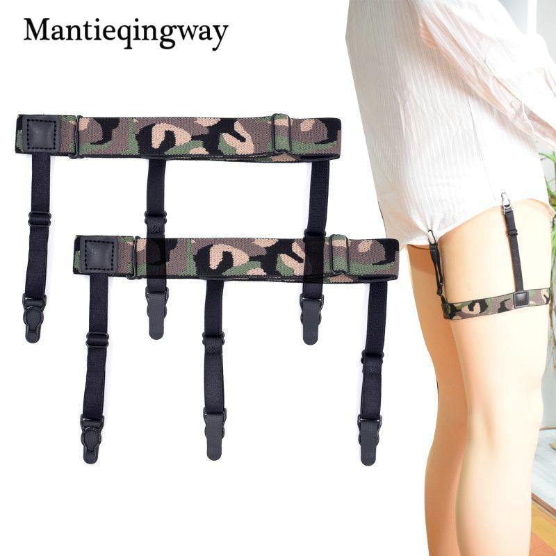 Men's Suspenders Men's Accessories Honest Mantieqingway Sock Suspenders For Men Ajustables Anti-slip Sock Garters Elastic Mens Legs Striped Shirts Suspenders Belts