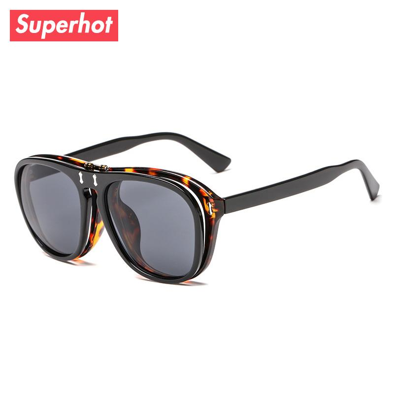 15387a9333 Superhot Eyewear - 2018 Flip Up Pilot Sunglasses Men Women Brand ...