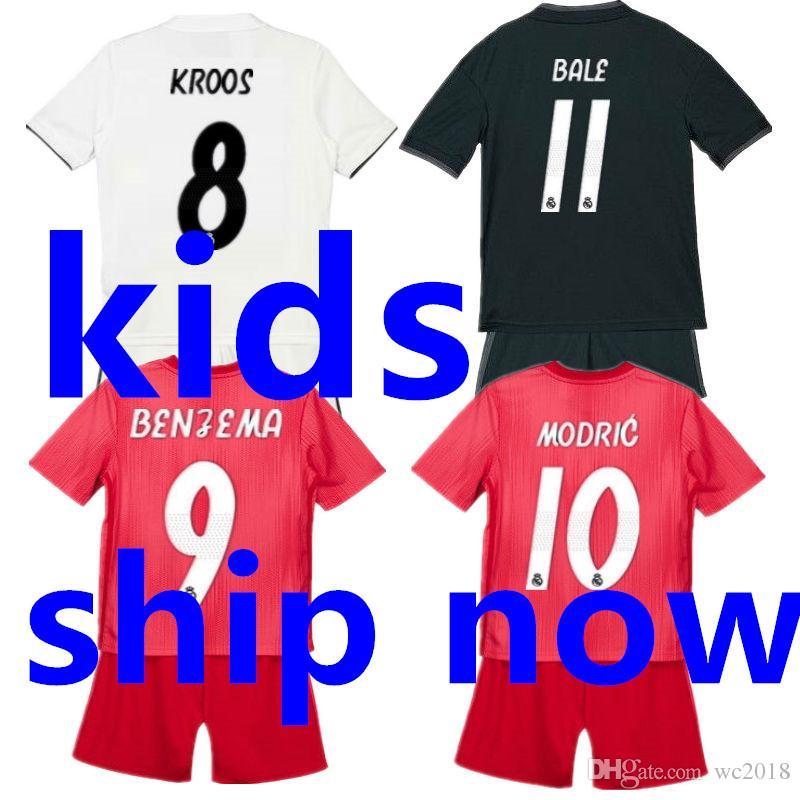 d7d6b12df00da 2018 2019 Real Madrid Kids Soccer Jersey Sets 18 19 Camisetas Ninos ...